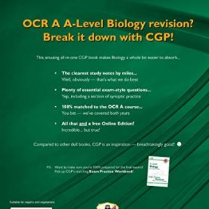 A-Level Biology: OCR A Year 1 & 2 Complete Revision & Practice with Online Edition (CGP A-Level Biology)