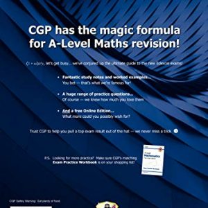 A-Level Maths for Edexcel: Year 1 & 2 Complete Revision & Practice with Online Edition (CGP A-Level Maths)