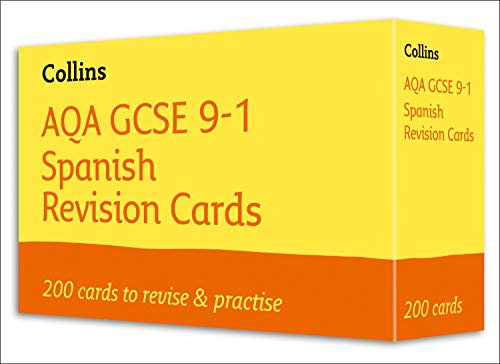 AQA GCSE 9-1 Spanish Vocabulary Revision Cards: For the 2020 Autumn & 2021 Summer Exams (Collins GCSE Grade 9-1 Revision)