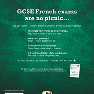 GCSE French AQA Revision Guide - for the Grade 9-1 Course (with Online Edition) (CGP GCSE French 9-1 Revision)