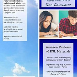 GCSE Maths by RSL, Higher Level 9-1, Non-Calculator: Practice Papers & Detailed Solutions (for All Exam Boards)