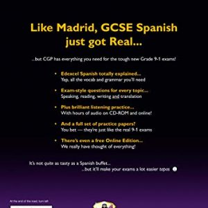 GCSE Spanish Edexcel Complete Revision & Practice (with CD & Online Edition) - Grade 9-1 Course (CGP GCSE Spanish 9-1 Revision)
