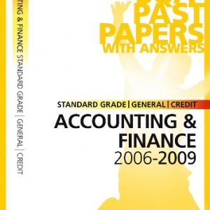 Accounting and Finance Standard Grade (G/C) SQA Past Papers 2009