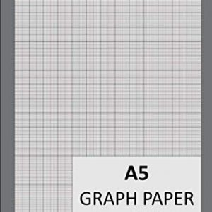 A5 Graph Paper 1mm 0.1cm: 148mm x 210mm, Graph Pad, 1/5/10 mm Square Grid Ruled Graphing Notepad, 100 Pages/50 leaves | Engineering & Science Notebook ... Paper A5 Pad | 90gsm White Paper - Grey Cover