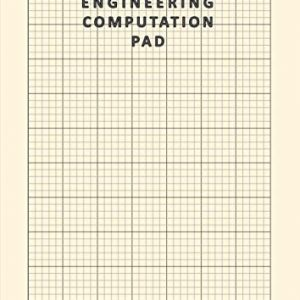 A4 Engineering Computation Pad: 100 Pages / 50 Sheets , 8.27 x 11.69 Inches | 5mm Grid Ruled Graph Paper | Blank A4 Computational Notepad | 5mm Quad ... for Engineers and Students| 80gsm Cream Paper