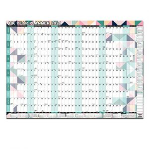 2021 UK unmounted Year View Wall Home,Office Planner Laminated Multi Color A1 Large Size by Arpan
