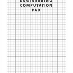 A4 Engineering Computation Pad: 100 Pages / 50 Sheets , 8.27 x 11.69 Inches | Blank A4 Computational Notepad | 5mm Grid Ruled Graph Paper | 5mm Quad ... Architects, and Students | 90gsm White Paper