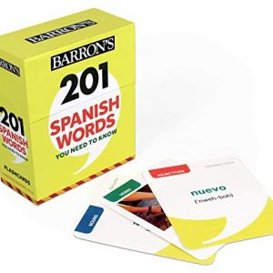 Barron's 201 Spanish Words You Need to Know Flashcards