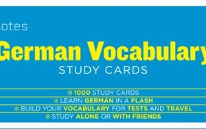 German Vocabulary (Sparknotes Study Cards)