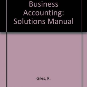 A Foundation in Business Accounting: Solutions Manual