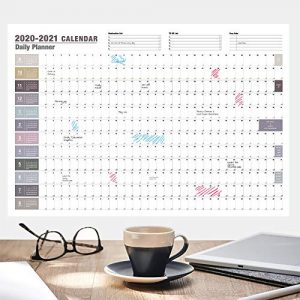 2020-2021 Wall Planner, Wall-Mounted Large Calendar for Office Planners and Teachers from September 2020 to August 2021, Weekly Planner, Calendar Family Planner