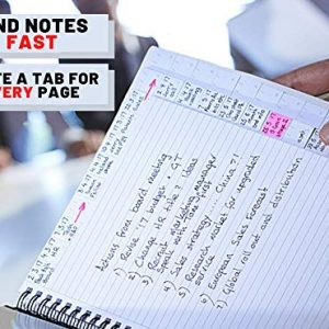TABi A5 Note Organiser - a New and Uniquely Designed Notebook and Planner System with a tab on Every Page to find Notes Fast. Luxury Soft Touch Cover and Wire Binding.