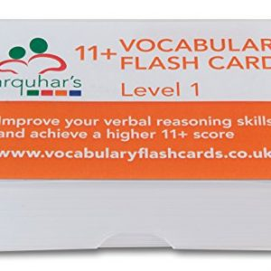 11+ Vocabulary Flash Cards - Level 1 Updated 2018 (200 key words with definitions)