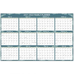 Yearly Wall Planner 2021-2022 - Large Size Planner 2021-2022, July 2021 - June 2022, Wall Year Planner Calendar 2021 for Home, Office, or School, 88 x 57 cm