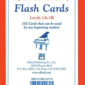 Alfred's Basic Piano Library Flash Cards, Bk 1A & 1B (Flash Cards): 102 Cards That Can Be Used by Any Beginning Student, Flash Cards