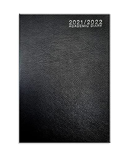 2021-2022 Academic Student Mid Year Diary A5 Week to View With School Term Timetable/Planner- Black
